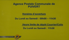 agence postale communale puivert