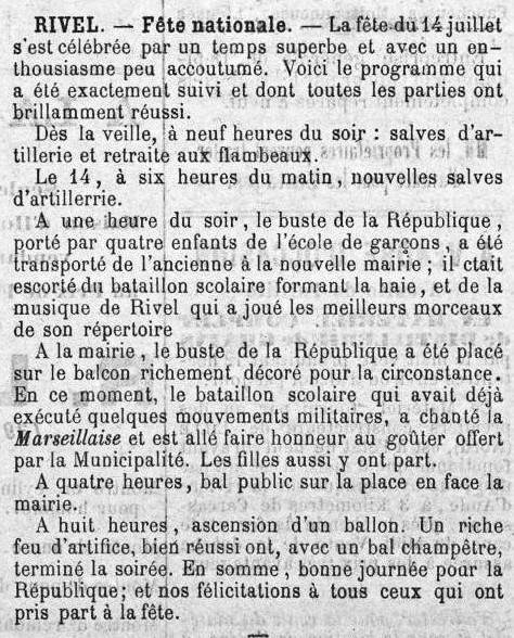 1889 18 juillet Le Rappel de l'Aude Fête nationale à Rivel.jpg