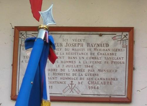 Joseph Raynaud plaque 11 Novembre 2005.jpg