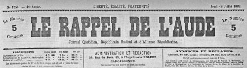 1889 18 juillet en-tête Rappel de l'Aude.jpg