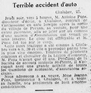 L'Eclair 1932 28 mai Antoine Pons décès 002.jpg