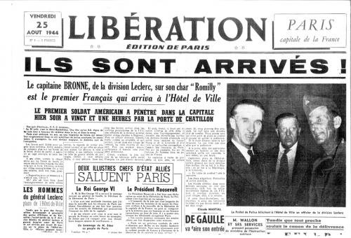 libération de paris,victor baro,capitaine raymond dronne