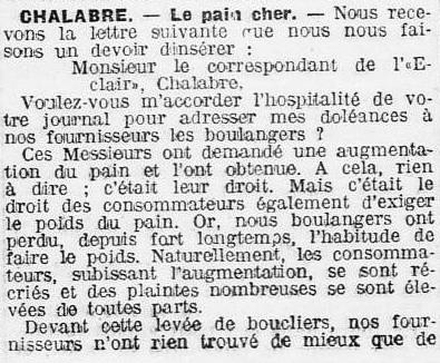 1910 L'Eclair 14 octobre Boulangers fraudeurs 001.jpg