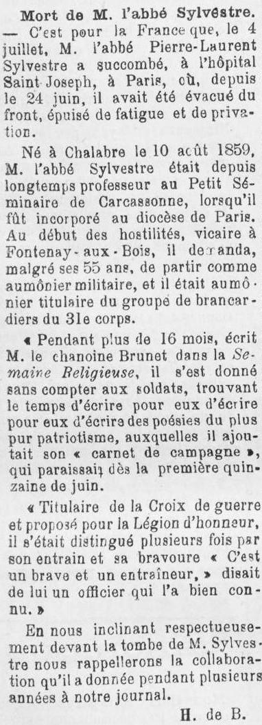 1916 Le Courrier de l'Aude 8 juillet.jpg