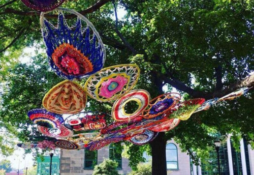 julie prochowski,riverbend yarn bombers