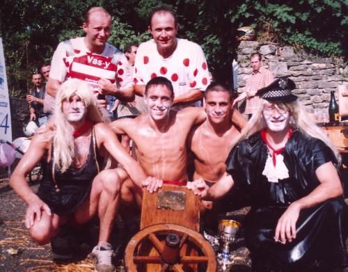 course à la brouette 2003,fête du cazal
